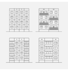 Panel houses linear1 vector image