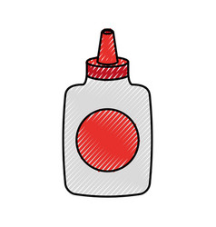 glue bottle isolated icon vector image