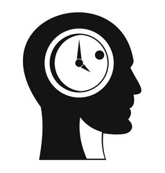 time management icon simple style vector image