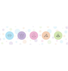 5 authority icons vector