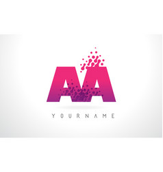 Aa a letter logo with pink purple color and vector