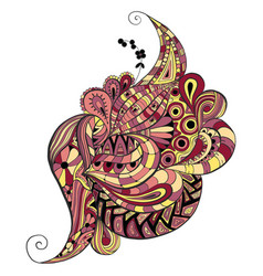 abstract decorative doodles vector image