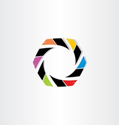 Abstract hexagon business icon vector