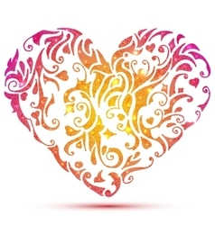 Abstract Valentines heart vector image