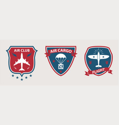 airplane tours and aviation badges vector image