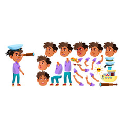 arab muslim boy kindergarten kid vector image