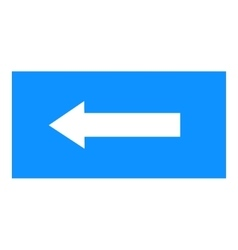 Arrow sign white icon in blue rectangle vector image