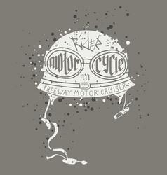 biker helmet picture vector image