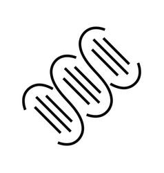 biological links line icon concept sign outline vector image