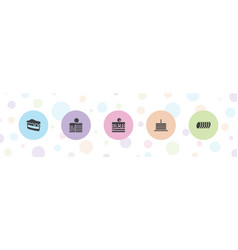 biscuit icons vector image