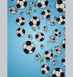 Black and white hexagon soccer ball seamless vector