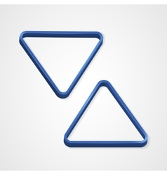 Blue billiard triangle on a white background vector image