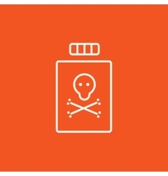 Bottle of poison line icon vector image