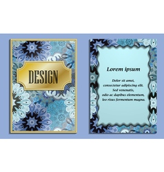 Bright elegant design for wedding invitations vector image