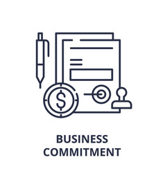 Business commitment line icon concept business vector