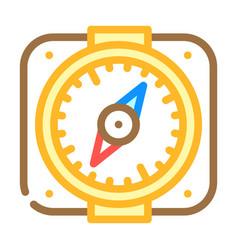 Compass pirate color icon vector