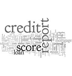 Composite credit report score simplifies mortgage vector