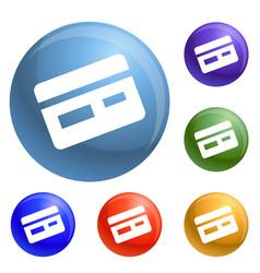 Credit card icons set vector
