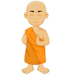 cute monk cartoon for you design vector image