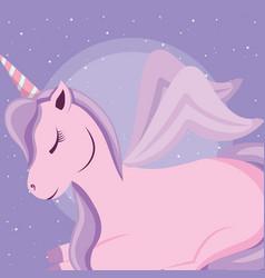 cute unicorn icon vector image