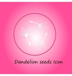 Dandelion pink icon vector