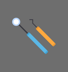 dentist instruments icon medical treatment concept vector image