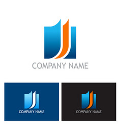 Document square business logo vector