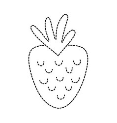 Dotted shape delicious strawberry fruit with vector