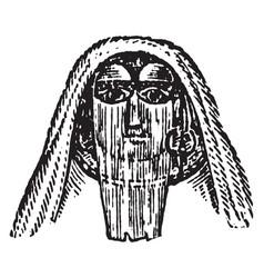 Egyptian female veil vintage engraving vector