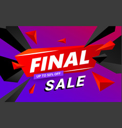 final sale banner design sale and discounts vector image