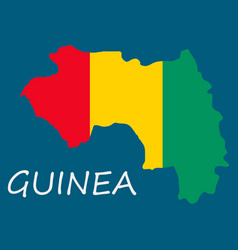 flag map of guinea vector image