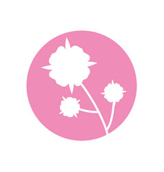 flower leaves natural icon vector image