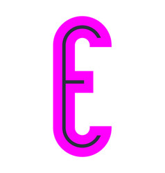 font for your design colored alphabet vector image