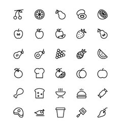 Food and drinks Line Icons 11 vector