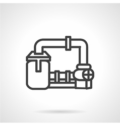 Gas transmission system icon vector