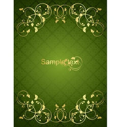greengold background vector image