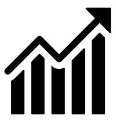 Growth increase chart vector