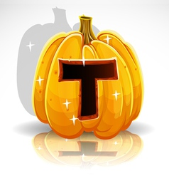 Halloween Pumpkin T vector image