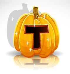 Halloween Pumpkin T vector