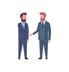 Hand shake concept two business men shaking hands vector