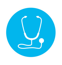 isolated medicine stethoscope vector image