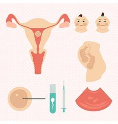 IVF in vitro fertilisation Twins vector