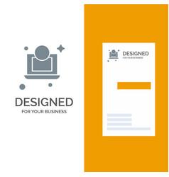 laptop dollar money grey logo design and business vector image