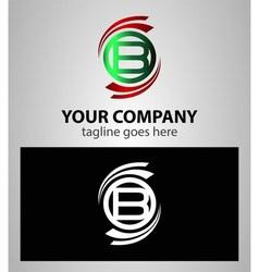 Letter B logo icon symbol set vector image