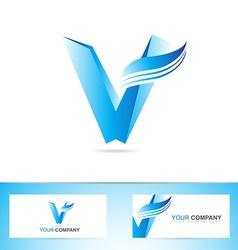 Letter V logo icon symbol vector image