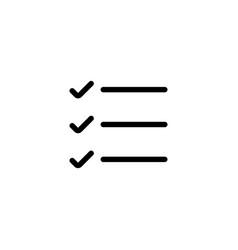 line simple list checklist icon vector image