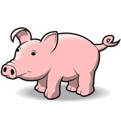 little piggy vector image