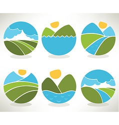 lovely nature vector image vector image