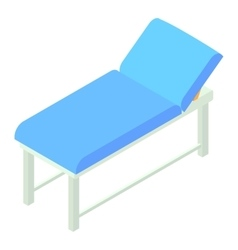 Medical bed icon isometric 3d style vector