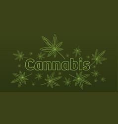medical cannabis or marijuana leaves ganja vector image